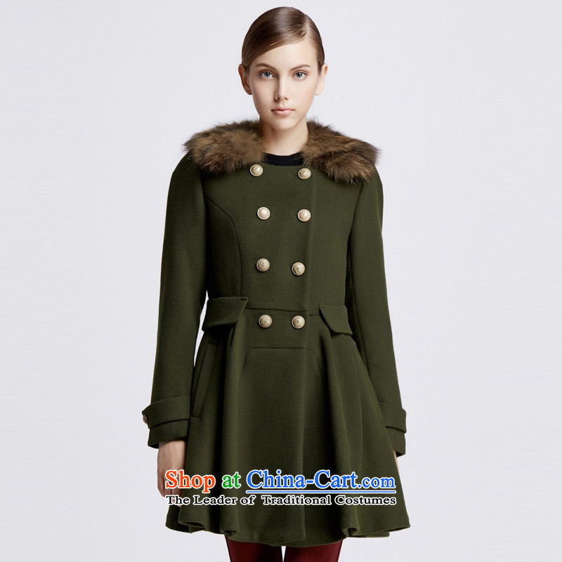 Chaplain Mai-mai _CHIU SHUI_ Double-Gross Gross for army green overcoat?燤 1343C122219