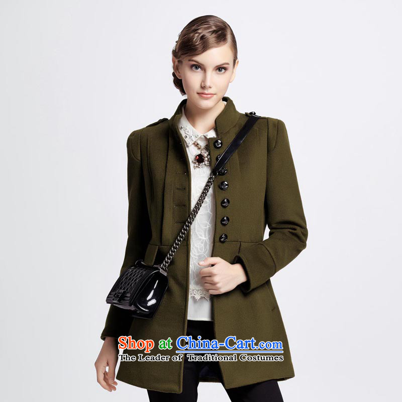 Chaplain Mai-mai _CHIU SHUI_ England wind Sau San a wool coat army green 1341C121205 XL