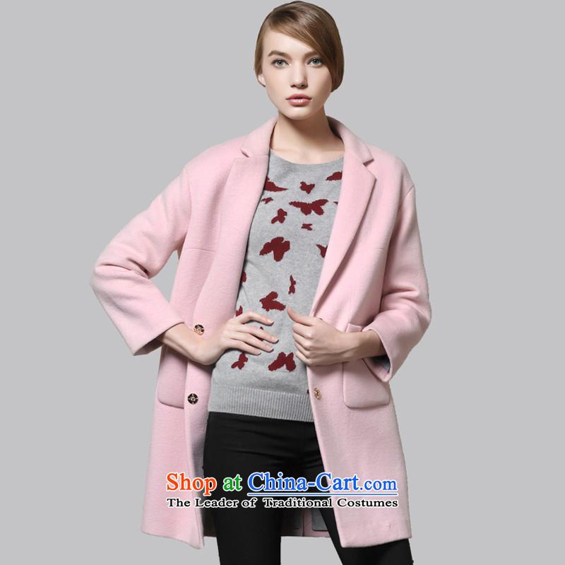 Leather dog8245001630ice toner minimalist wild cocoon-net color woolen coat95_S