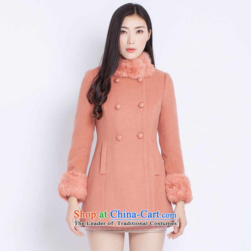 The war-hee (QS) fashion, double-rabbit hair Half Coat KAI103 Sau San toner orange 38 160/84A