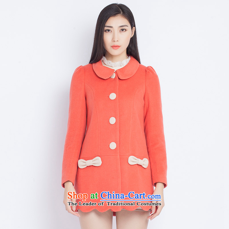 The war-hee (QS) Korean lady dolls for pure color coats KXI116 PURGE?   Orange 36 155/80A