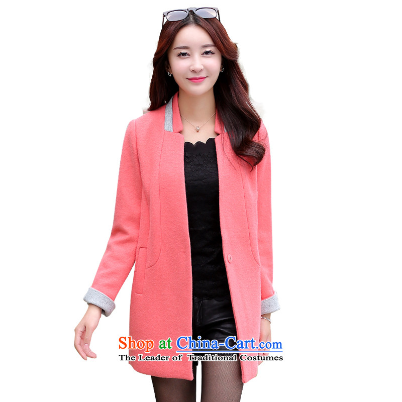 Mrs Fong _female_ 4432236 shunufang early winter in new long hair? jacketS coral orange