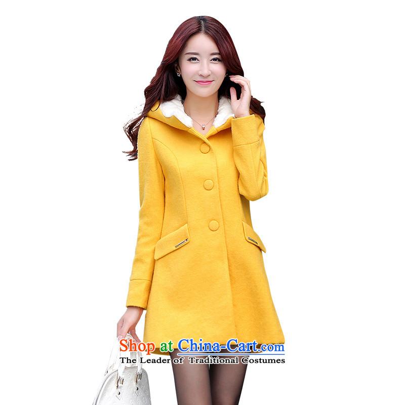 Mrs Fong _female_ D4446456 shunufang winter clothing new cap elegant beauty?燢ang s coats gross Wong