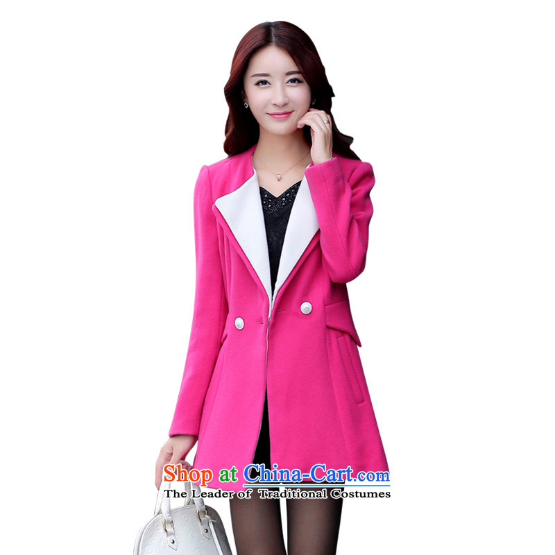 Mrs Fong _female_ D4446509 shunufang winter clothing new commuter video thin hair? solid color jacket female燤燽etter toner