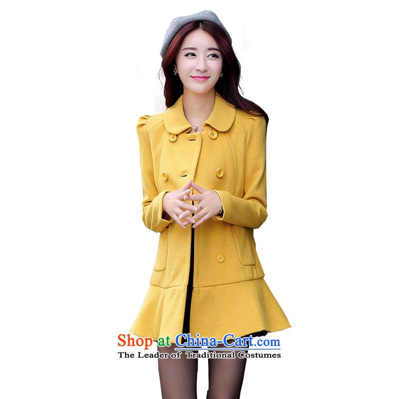 Mrs Fong _female_ D4446561 shunufang winter clothing new stylish and elegant dolls collar niba single row detained coats燣燭urmeric