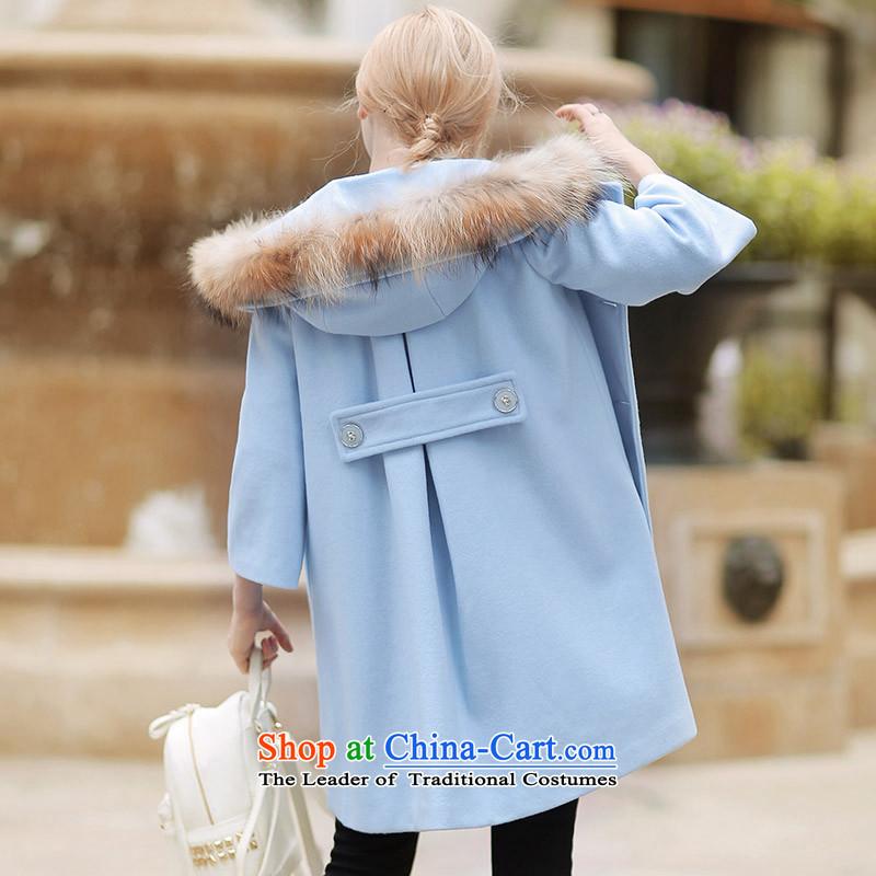 燦uclear Sub gross QIGIRL really washable wool coat燪G1129?�005 M