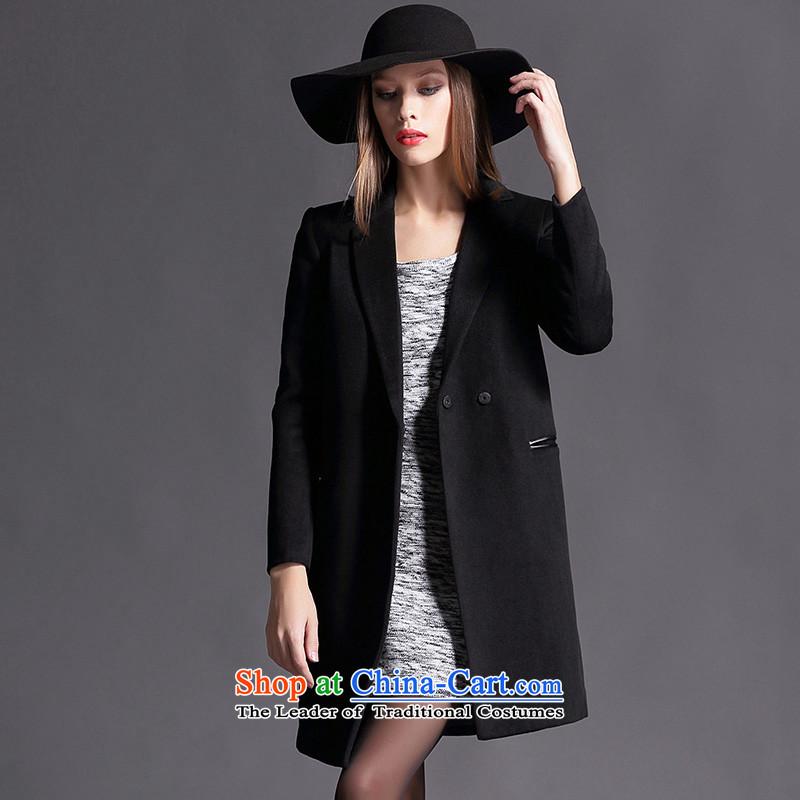 Joseph sija sessthea __ for pocket spelling suit coats leather in Sau San long hair? coats W6637 black 2XL