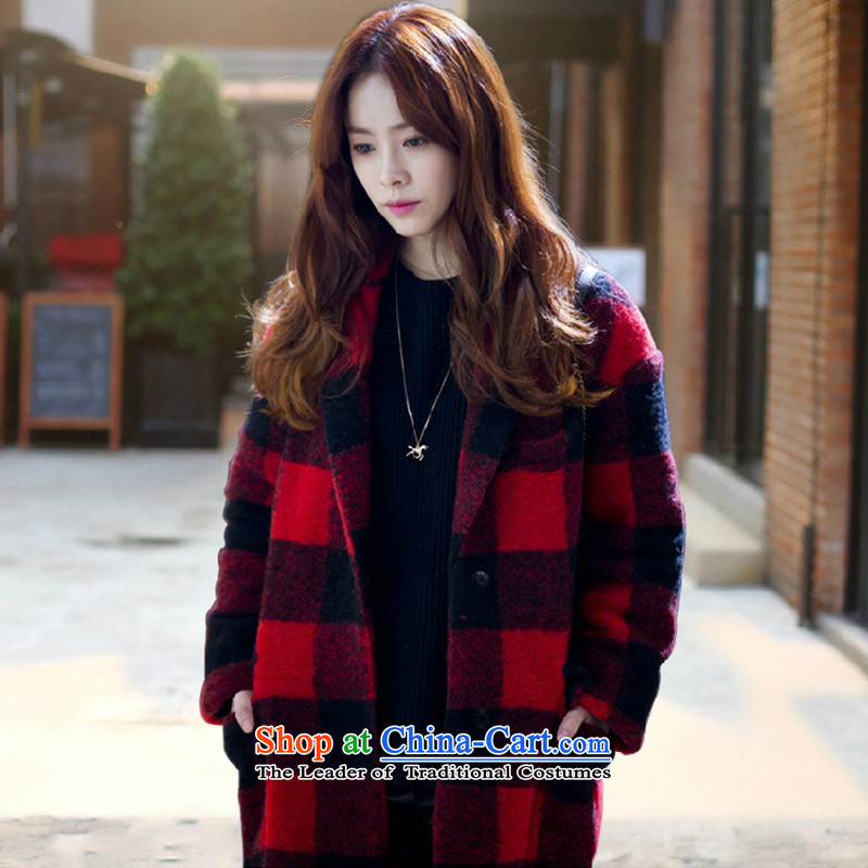 Joseph Sija _sessthea_ One hundred and latticed coats coats jacket W8809 red L