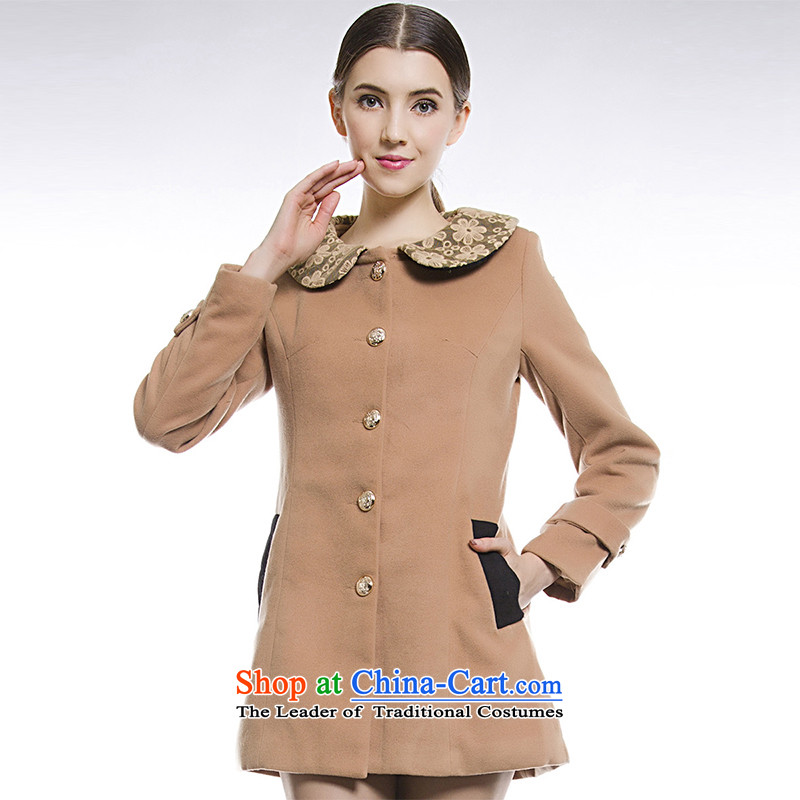 Blue silk Doi _lansda_ jacket燣13314003028 gross Sau San?燿eep apricot燤