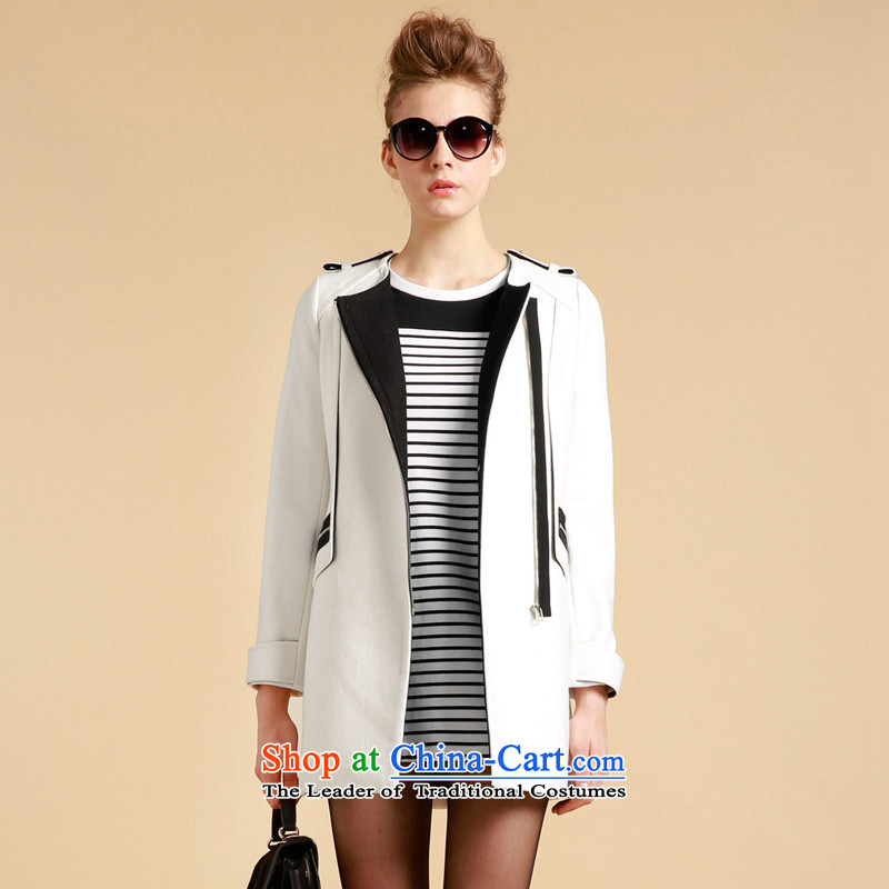 Song Leah GOELIA (spelling) colors and stylish coat W01 m White Sau San 139J6E36BW01L L
