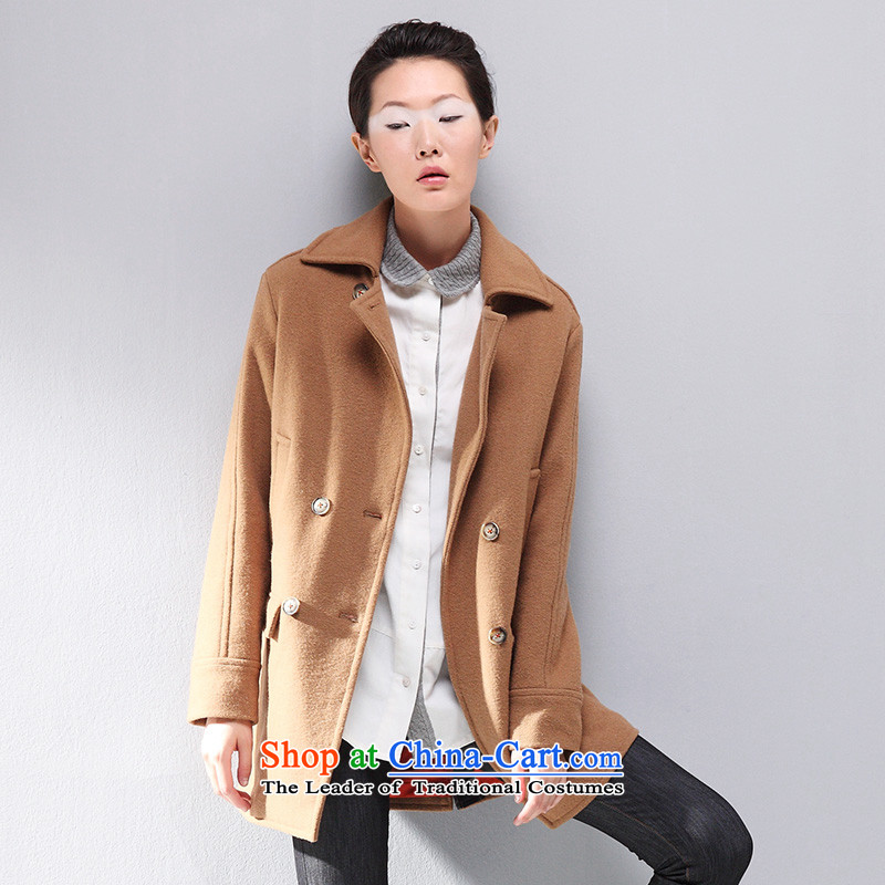 The early Arabic gross? jacket double-jacket in gross Connie long thin loose large video   Code 8531244815? coats women gross brownXL