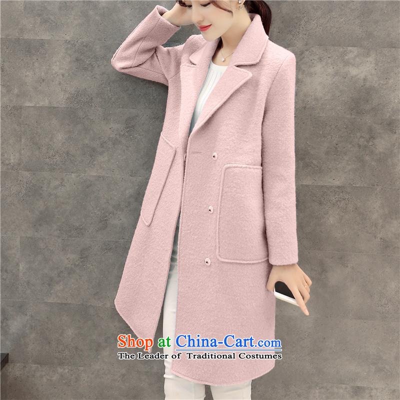 Sin has been gross girls jacket? Long Korean Sau San video thin 2015 autumn and winter new temperament women han bum a wool coat燭NOXN6639爌ink燣