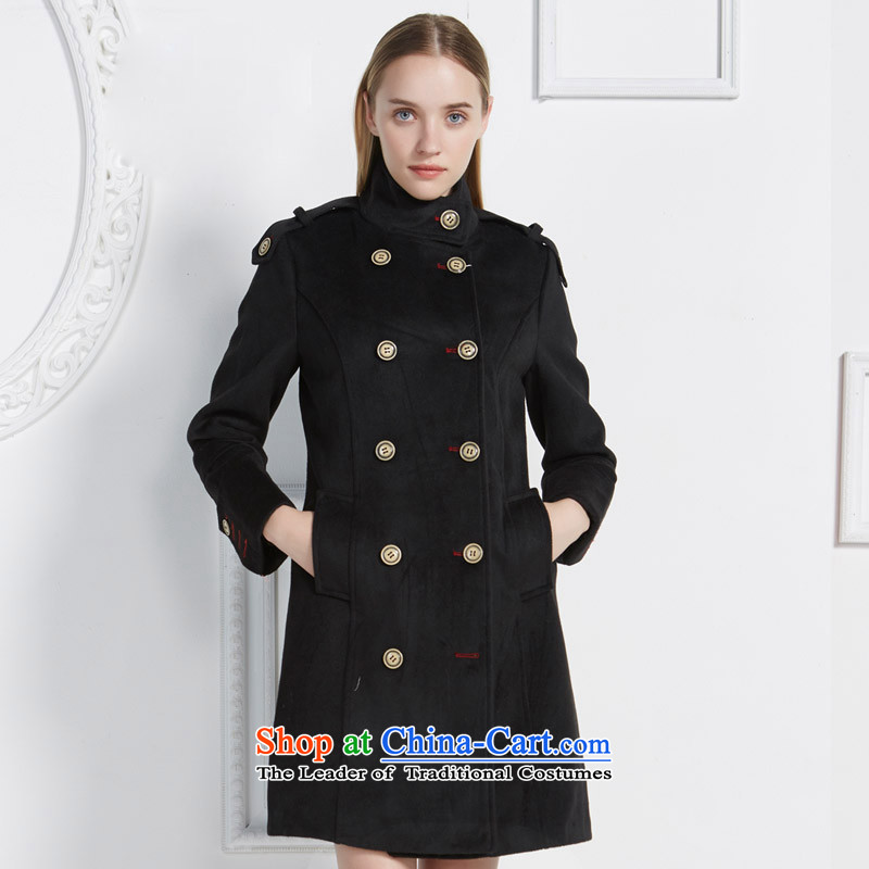 Po Chong _BAOCHUANG 6906A703004_ Ladies black coat燤_004 gross?