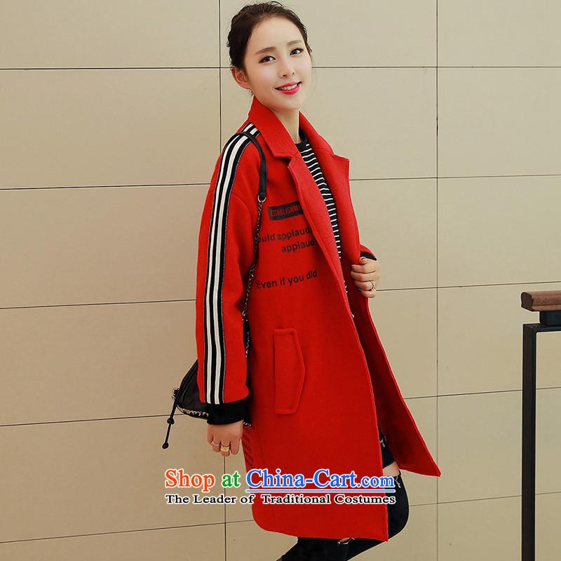 Load the autumn 2015 has sin new Korean citizenry video thin stylish simplicity Sau San Wind JacketYS950176 femaleredL