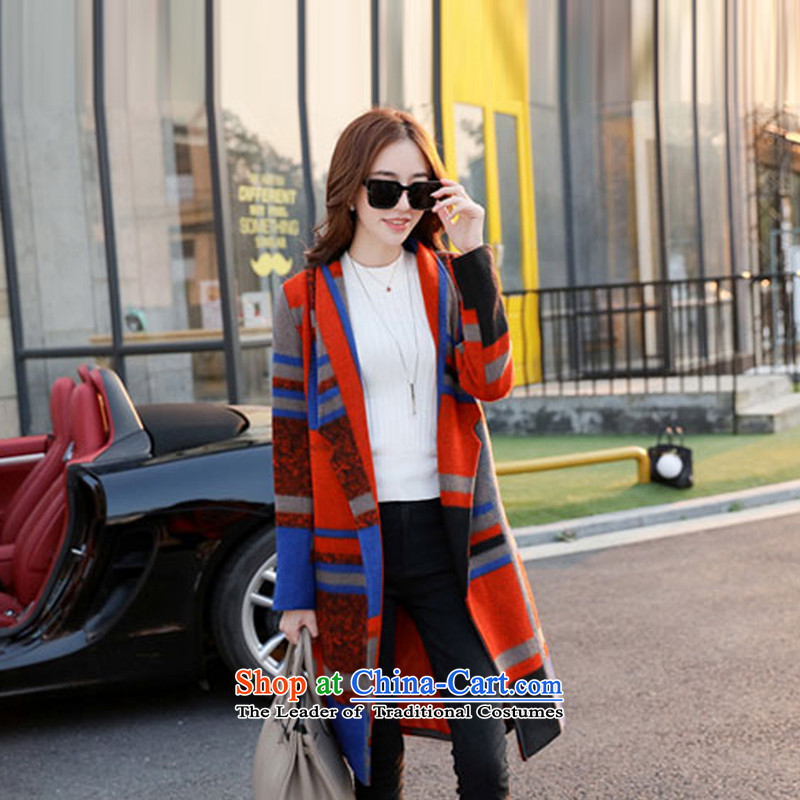 Sin has聽2015 winter clothing new Korean citizenry video thin stylish color plane collision minimalist jacket female聽TNHSFS983 gross?聽Tangerine Orange,聽L