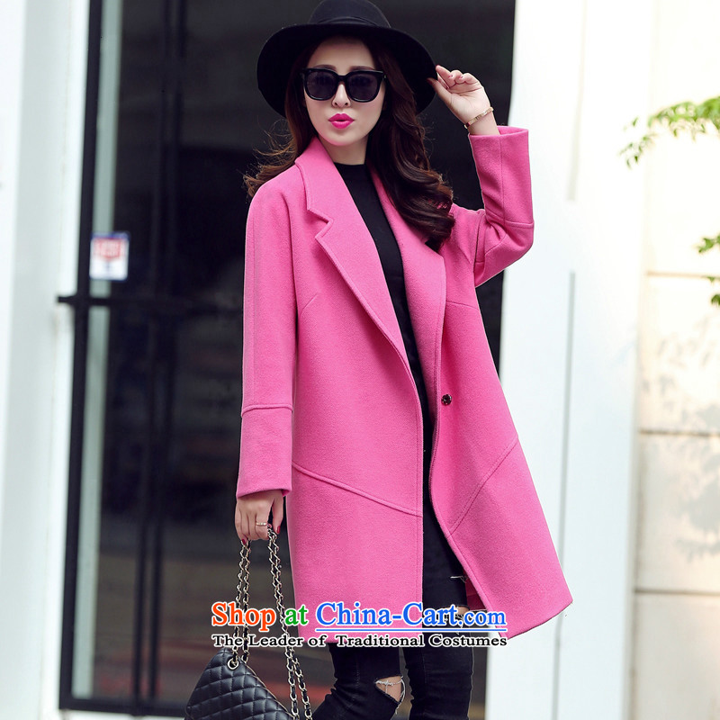 Sin has new winter 2015 stylish look of Sau San Korean video thin solid color in warm longer lapel coats female tn15110513 gross?  The Red M
