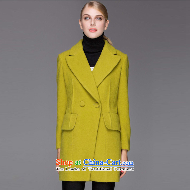 Hayek terrace _MAXILU_ Green Sleek and versatile in long coats燤867E6019C07 XL
