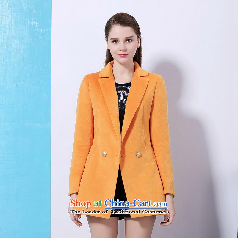 Chaplain Mai-mai _CHIU SHUI_ long coats in Sau San orange _XL 1341F121202 Jacket