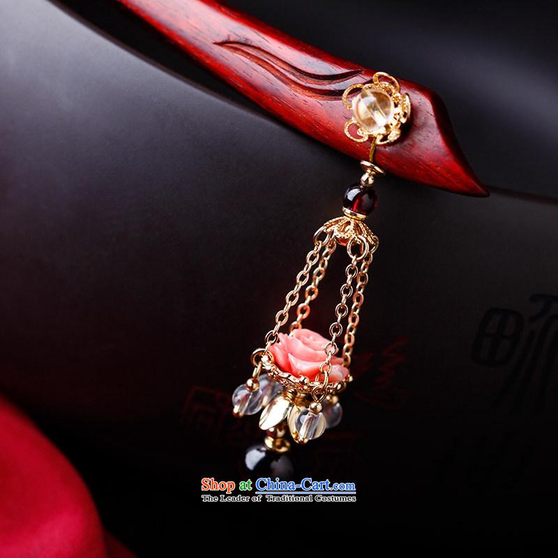 Phoenix Nirvana manually by Ornate Kanzashi natural stone step, pomegranates Crystal Pendant China wind retro disk sent jewelry, Phoenix Nirvana , , , shopping on the Internet