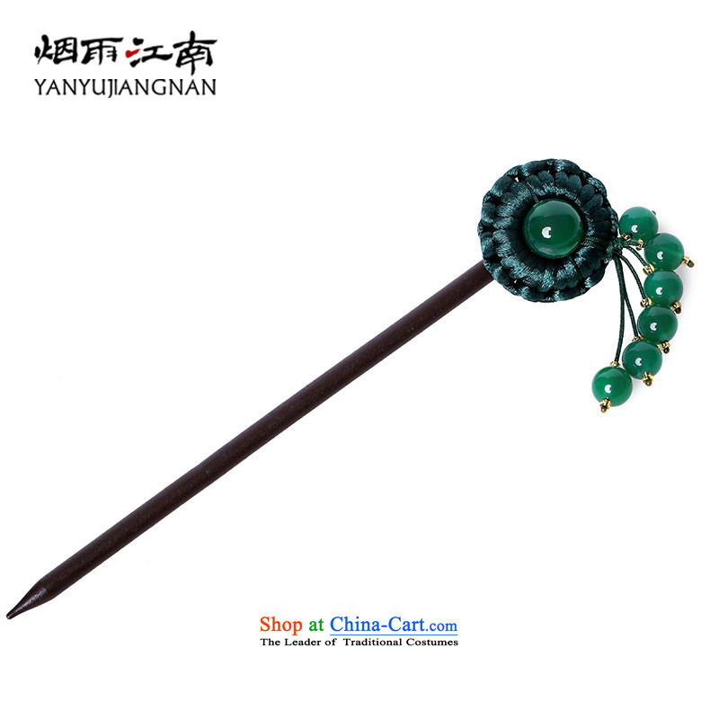 The smoke from the game by Ornate Kanzashi edging Gangnam agate hair accessories ancient style of classic wooden manually Disc