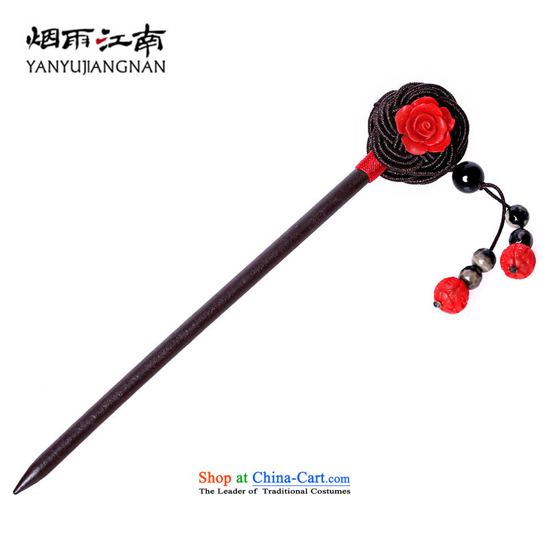 The smoke from the game by Ornate Kanzashi classical Ornate Kanzashi Gangnam sub-su, the disc's hair accessories wood finish with ancient style of the Ancient Arts of manual