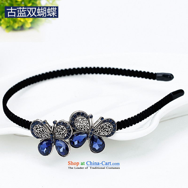 Mrs. Chang was adorned with antique flower and hairbands card drill of water pressure and clamp clamp Head Ornaments clip C027 ancient blue butterfly