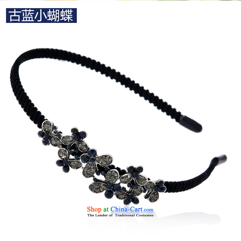 Mrs. Chang was adorned with antique flower and hairbands card drill of water pressure and clamp clamp Head Ornaments clip C027 ancient blue small butterfly