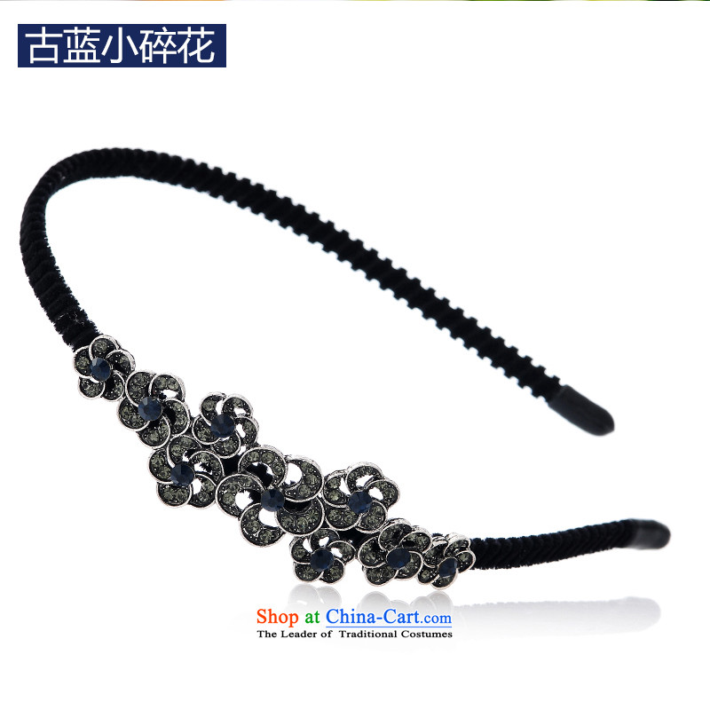 Mrs. Chang was adorned with antique flower and hairbands card drill of water pressure and clamp clamp Head Ornaments clip C027 ancient blue small Saika