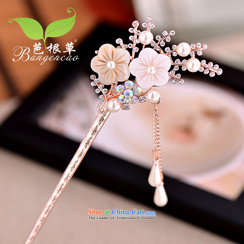 Barbara grass ancient wind hair decorations edging Ornate Kanzashi Korean classic rock and Ornate Kanzashi's sub-step of sending women head ornaments most sub BGC-734 White
