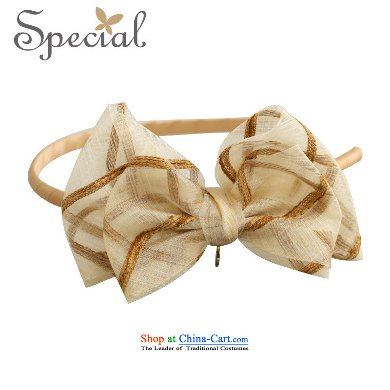 Special Western Hairbands Bow Tie clip hair accessories accessories with the 2015 Chinese Birthday Gift Beige