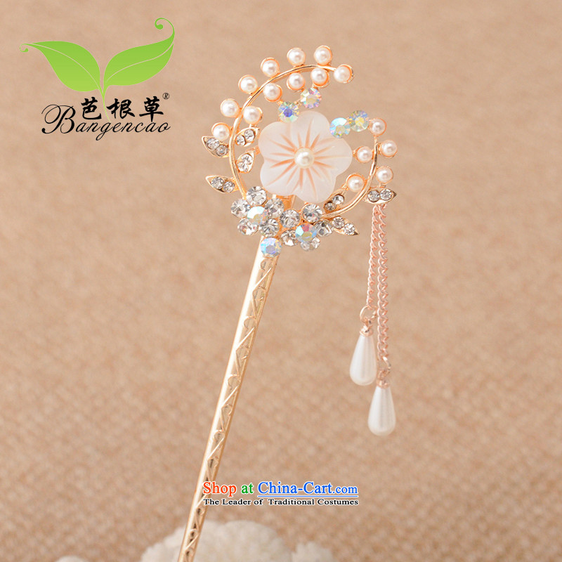 Barbara grass Head Ornaments ancient style Pearl Ornate Kanzashi Korean classical edging kanzashi sub-disk sent the most countries retro-step hair decorations BGC-1274 White