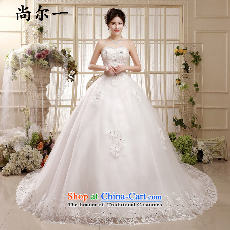 Yet, a wedding dress to align the new 2015 wedding tail anointed chest large Sau San wedding pregnant women wedding xs8903 White聽XXL