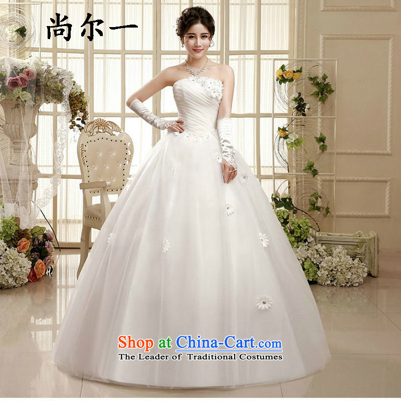Yet, a wedding dress 2015 new Korean wiping the chest to align the minimalist marriages larger pregnant women of autumn and winter xs5879 package?S