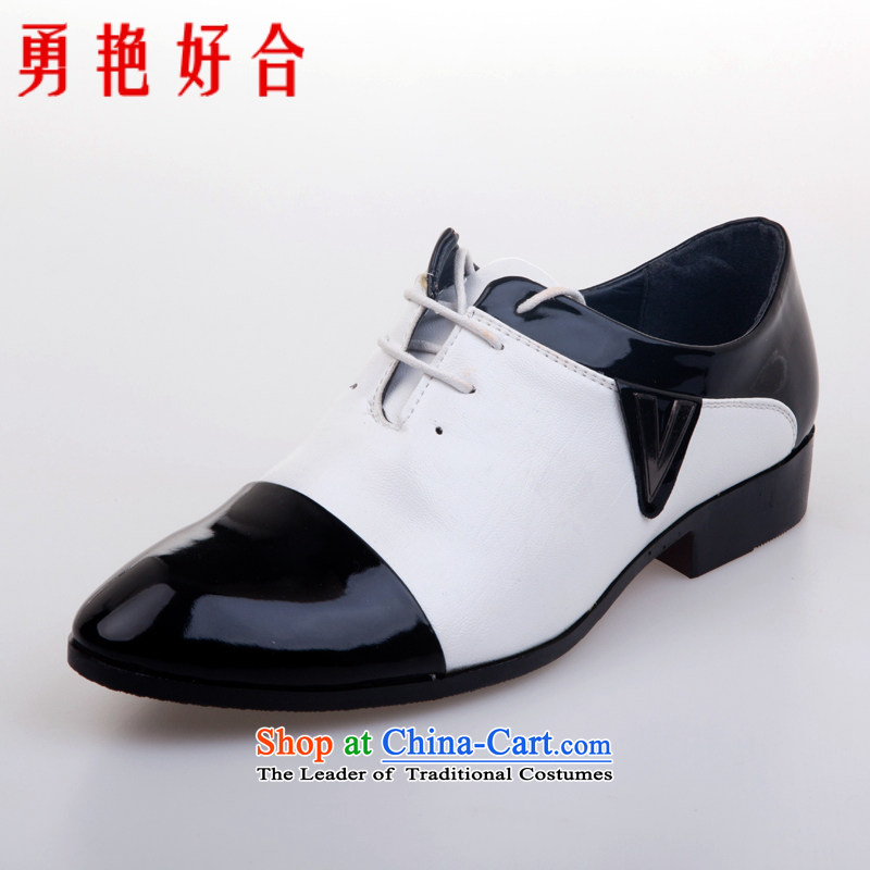 Yong-yeon and handsome point wedding photography men business professional Korean daily leisure shoes bridegroom marriage shoes suit聽41