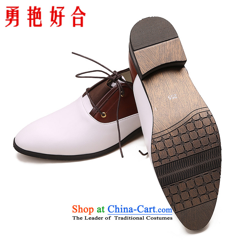 Yong-yeon and handsome wedding photography men business professional Korean daily leisure shoes bridegroom marriage of men's single shoe white shoes 42