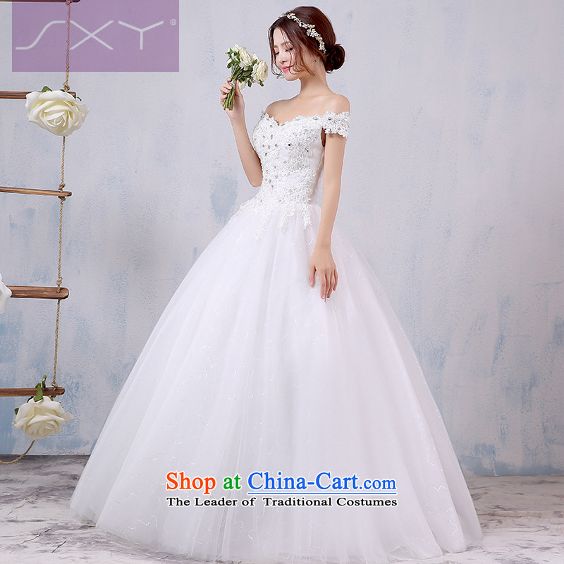 Wedding dress 2015 new Korean style to align the shoulder larger video thin marriages a field shoulder wedding winter?L