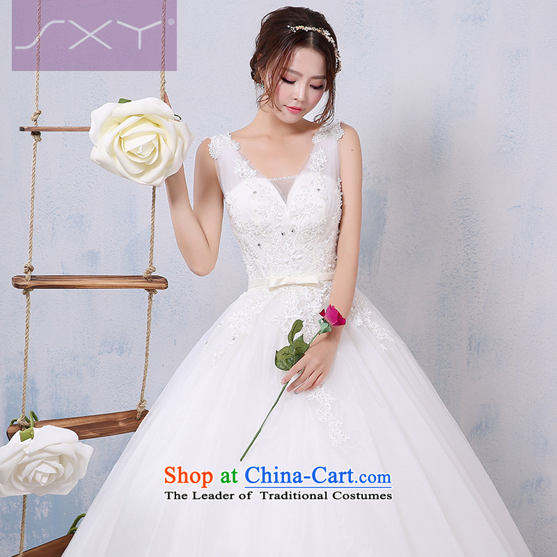 2015 new wedding dress bride shoulders V-Neck lace to align graphics thin diamond wedding to align the winter聽S
