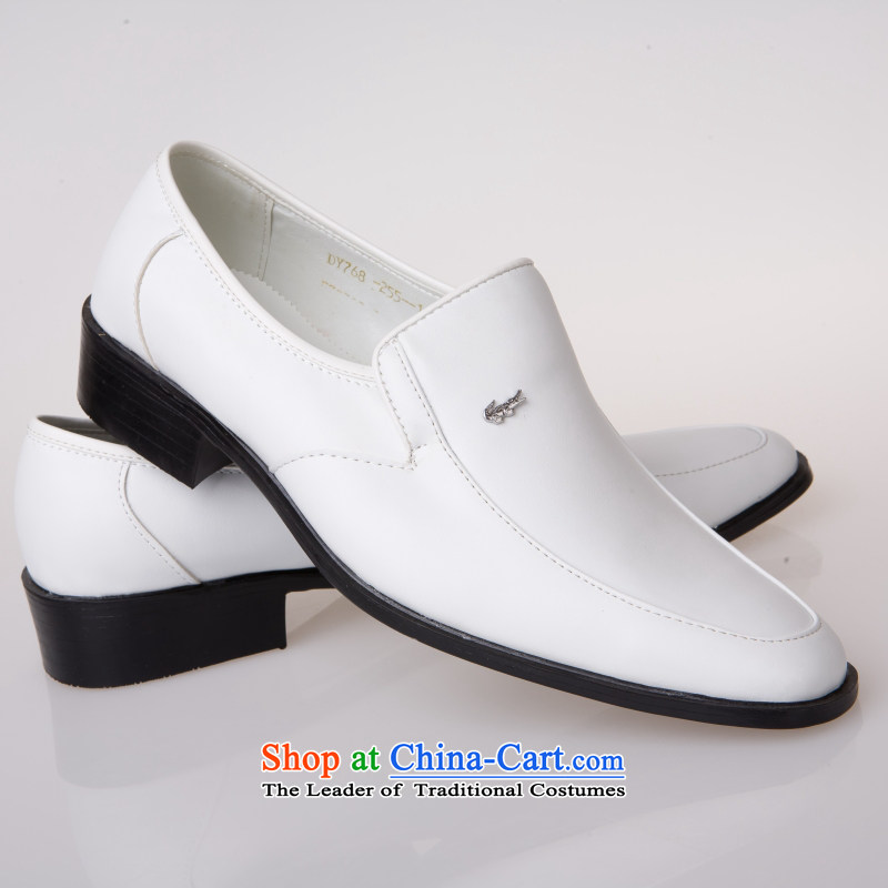 The Entertainer wedding photography men business professional Korean daily leisure shoes bridegroom marriage of men's single shoe white shoes 42, Yong-yeon and shopping on the Internet has been pressed.