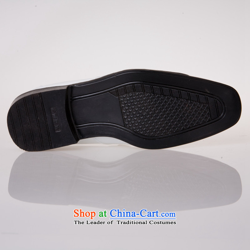 The Entertainer wedding photography men business professional Korean daily leisure shoes bridegroom marriage of men's single shoe white shoes聽42, Yong-yeon and shopping on the Internet has been pressed.