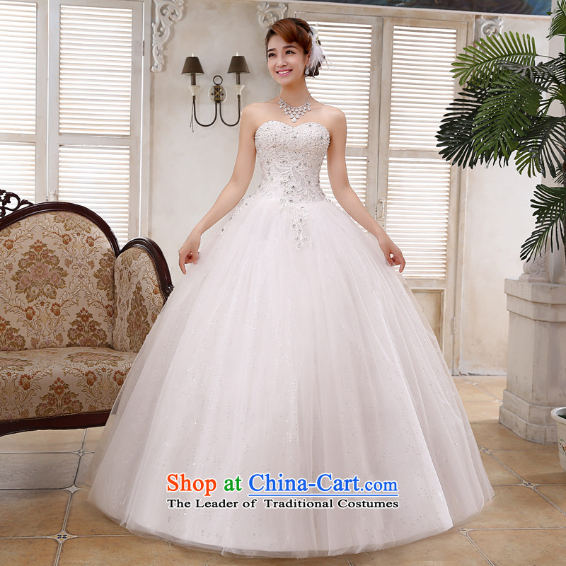 Mr. Guiss��?2015 New White gauze Korean Princess Pearl anointed with chest to wedding JH41 white customization