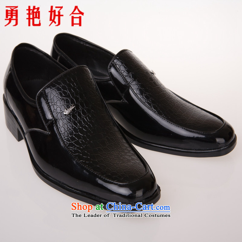 Yong-yeon and men married to groom shoes floor shoes marriage shoes black shoes black 44
