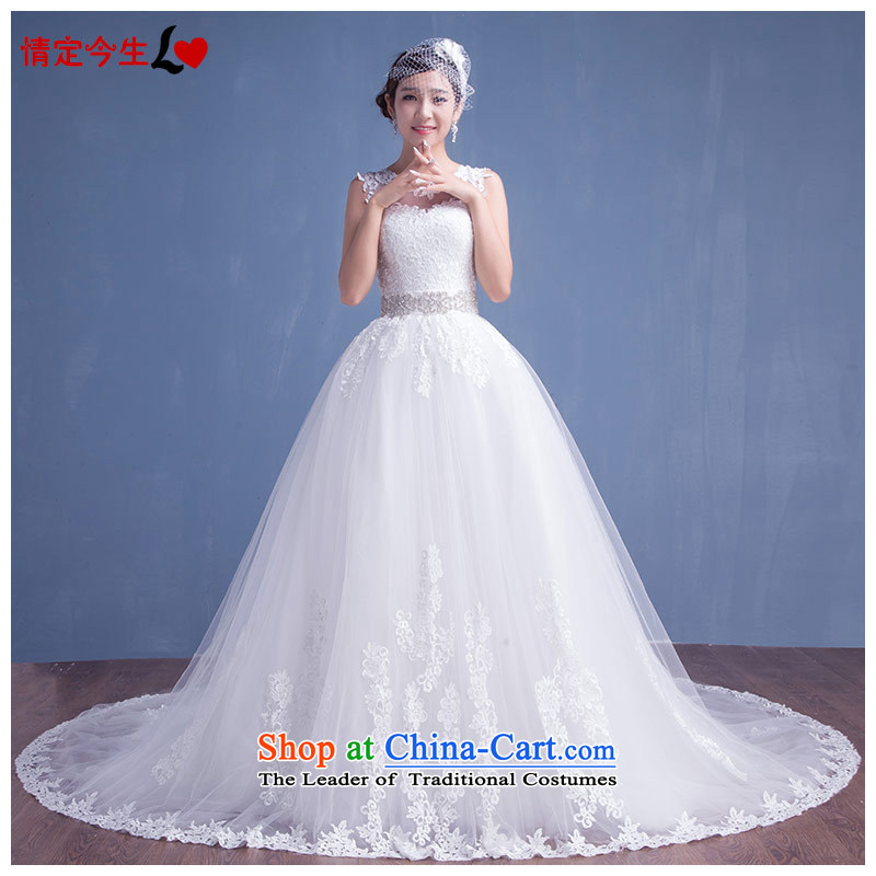 Love of the life of the�new Korean 2015 princess shoulders diamond lace tail wedding wedding dress female white�M