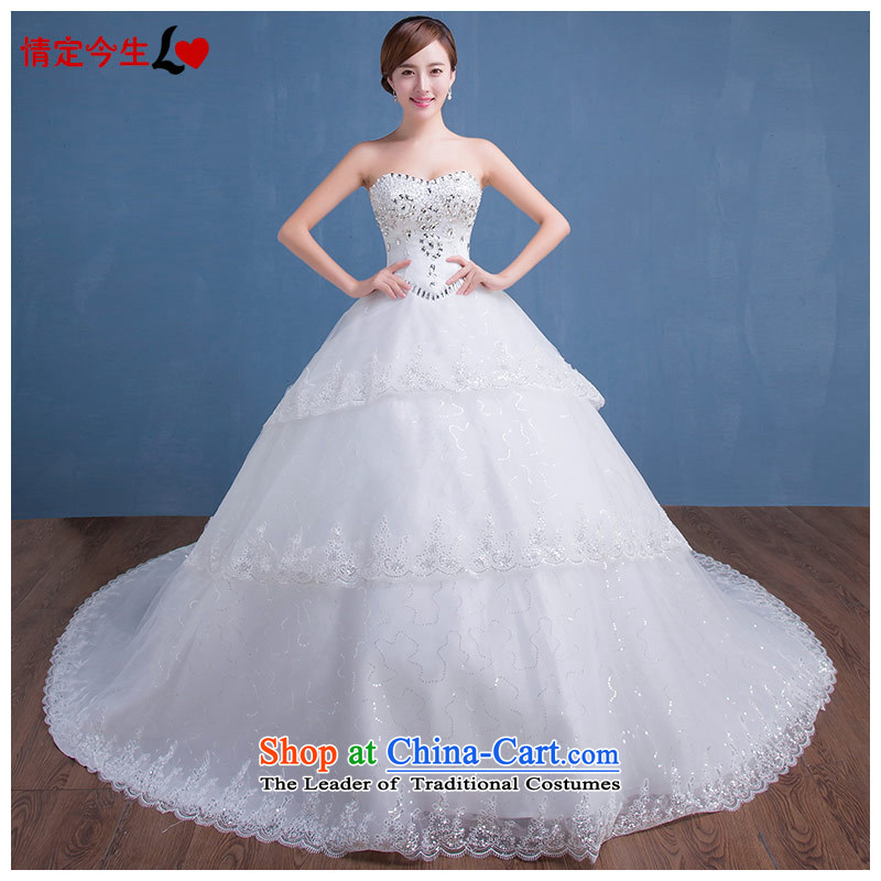 Love of the overcharged聽015 new sexy anointed chest Diamond Video thin romantic Korean tail wedding wedding dress female tail聽XL