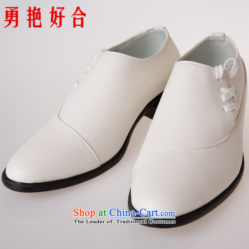 Yong-yeon and white Fashion Shoes, MEN arena shoes shoes marriage boutique men's shoes white聽42