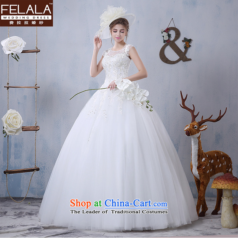 Ferrara?2015 new winter wedding dresses won with minimalist package shoulder lace bon bon yarn marriages thin large?S(1 video tape 9)