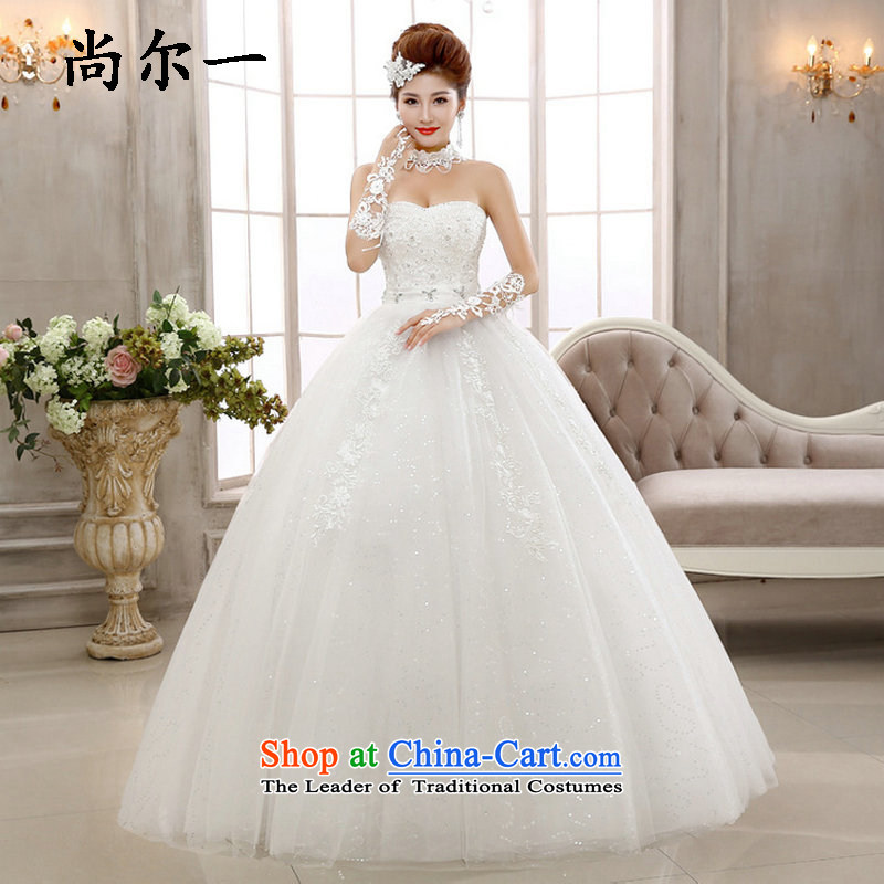 Naoji in the Korean version of the alignment of the sexy anointed chest wedding gown bride video thin 2015 autumn and winter new wedding dresses xs5882 package?S