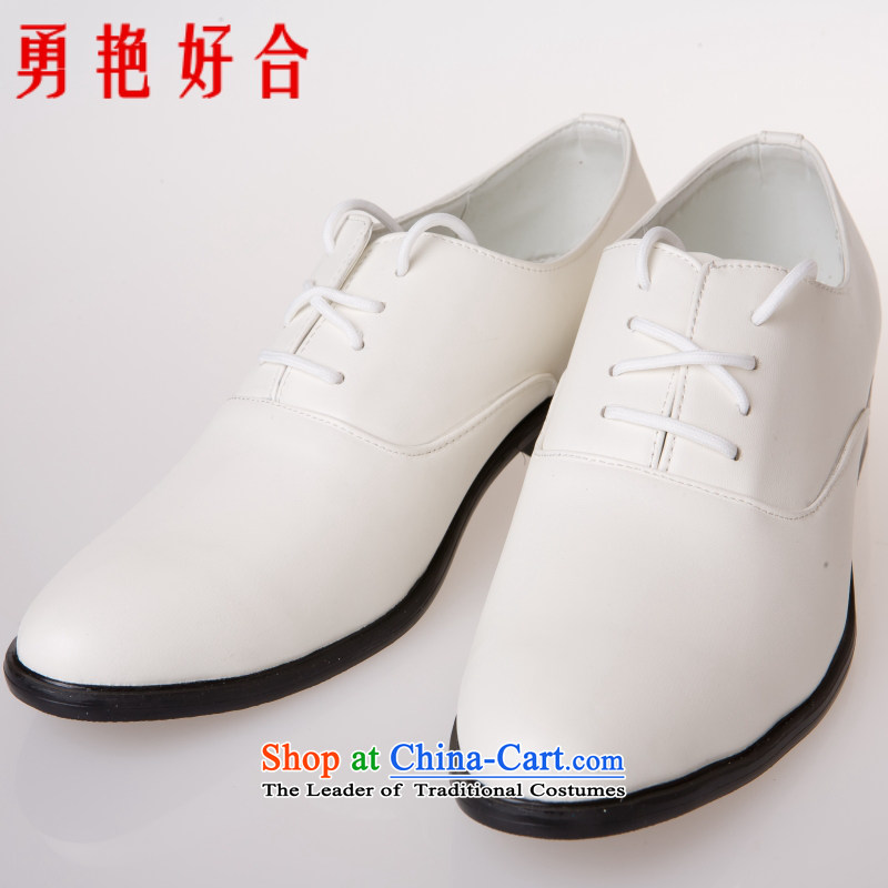 Yong-yeon and handsome wedding photography men business professional Korean daily leisure shoes bridegroom marriage of men's single shoe white shoes�43