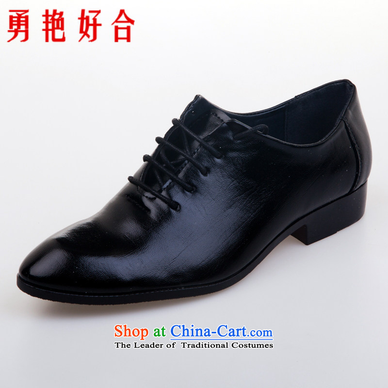 Yong-yeon and handsome wedding photography men business professional Korean daily leisure shoes groom men single shoes marriage black?39