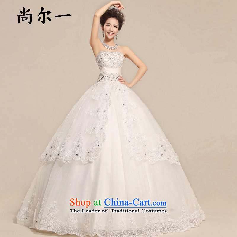 Yet, a wedding dress 2015 new wiping the chest to lace bride pregnant women wedding video thin large Korean style wedding autumn package xs5885�XL