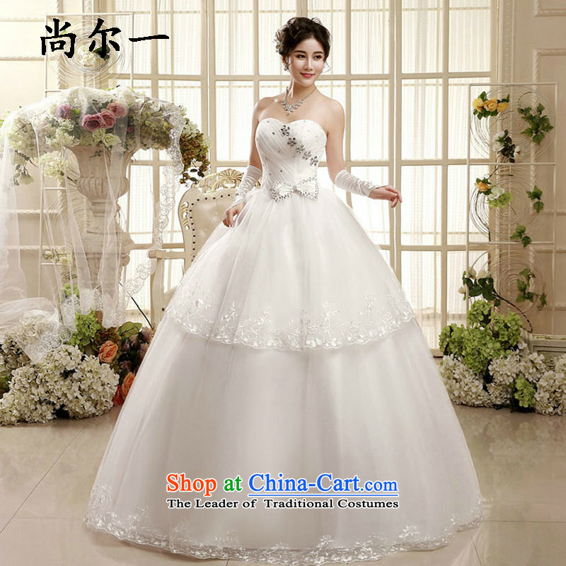 Yet, a wedding dresses new 2015 Korean style with chest wedding bride to align the wedding dress bon bon xs5888 autumn and winter package XL